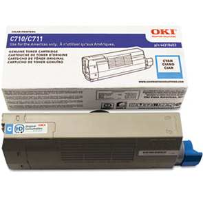 44318603 Toner Cartridge - Okidata Genuine OEM (Cyan)