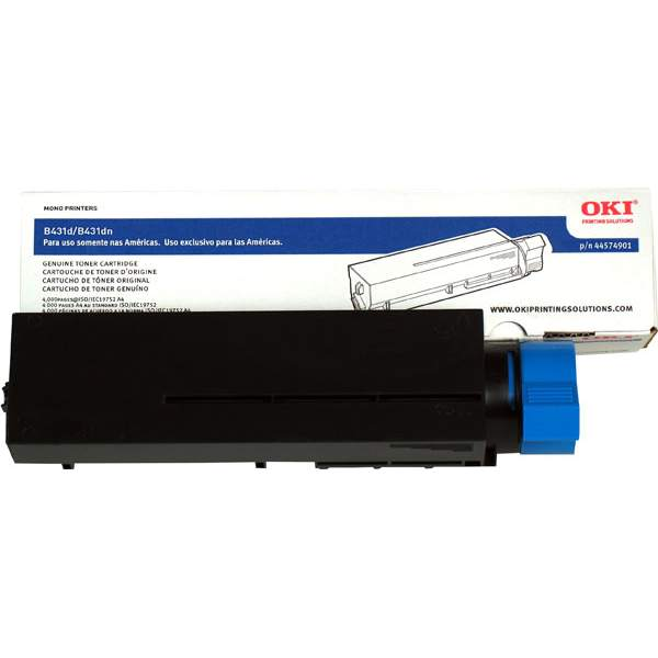 Genuine Okidata 44574901 Black Toner Cartridge