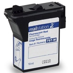 Compatible Pitney Bowes 797-M Red Ink Cartridge