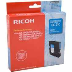 Genuine Ricoh 405533 Cyan Ink Cartridge