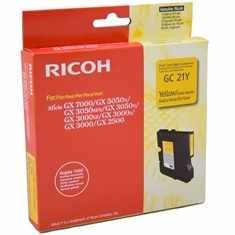 Genuine Ricoh 405535 Yellow Ink Cartridge