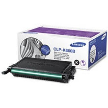 Genuine Samsung CLP-K660B Black Toner Cartridge