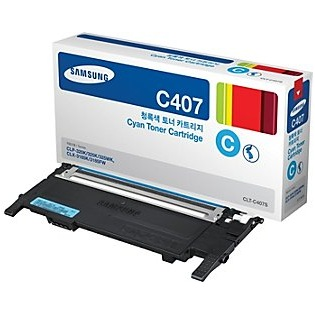 CLT-C407S Toner Cartridge - Samsung Genuine OEM (Cyan)