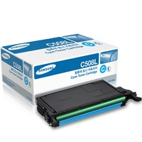 CLT-C508L Toner Cartridge - Samsung Genuine OEM (Cyan)