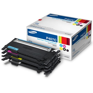 CLT-P407C Toner Cartridge - Samsung Genuine OEM (Bundle Pack)