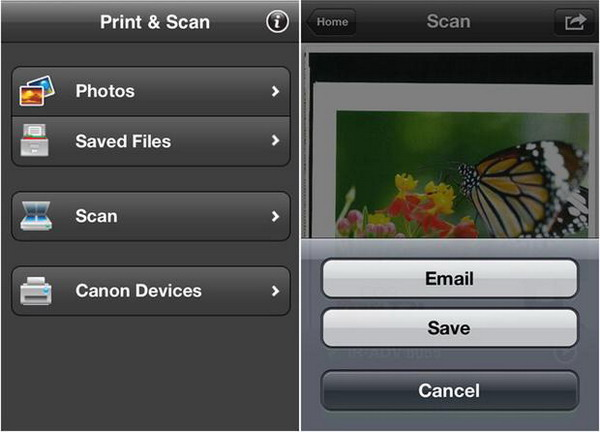 Cannon mobile printing app