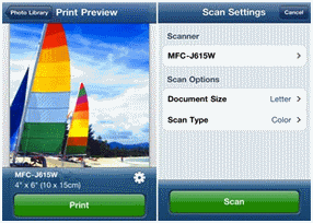 Brother iPrint&Scan settings