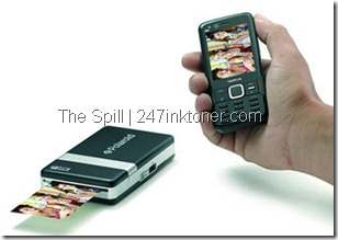 Pocket printer next to a phone