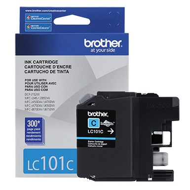 Genuine Brother LC101C Cyan Ink Cartridge