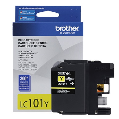Genuine Brother LC101Y Yellow Ink Cartridge