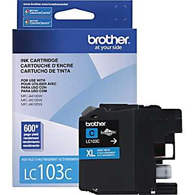 LC103C Ink Cartridge - Brother Genuine OEM (Cyan)