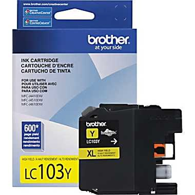 LC103Y Ink Cartridge - Brother Genuine OEM (Yellow)