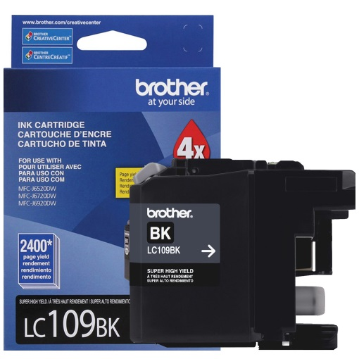 LC109BK Ink Cartridge - Brother Genuine OEM (Black)