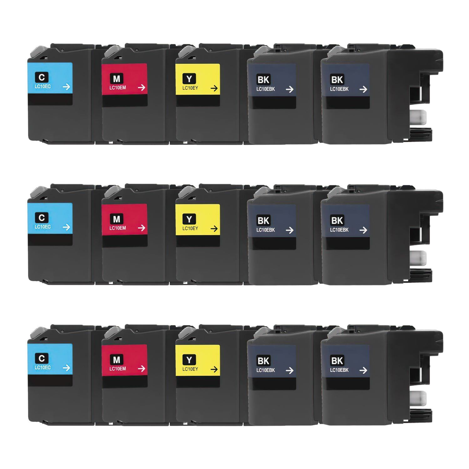 Compatible Brother LC10E Inkjet Extra High Capacity Pack - 15 Cartridges