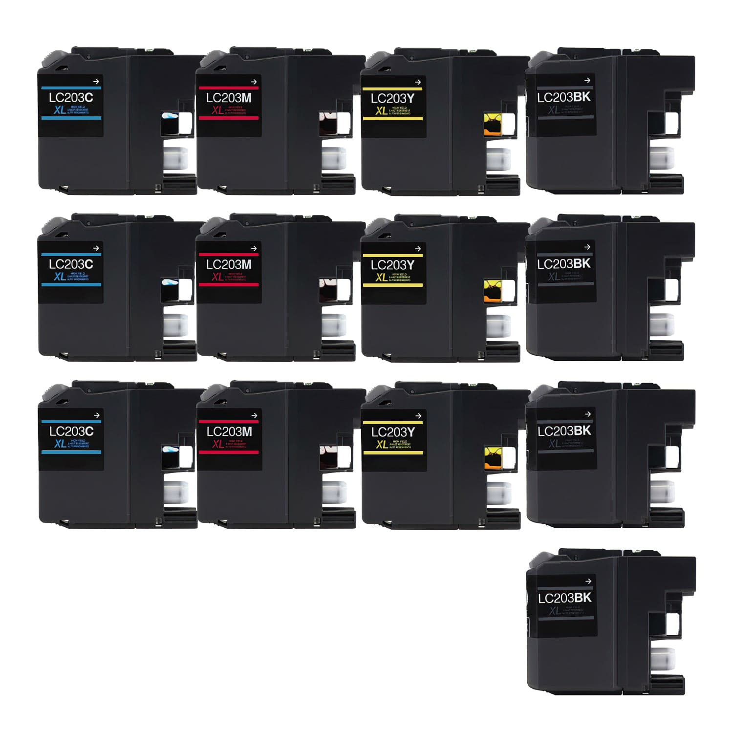 Compatible Brother LC203 Inkjet High Capacity Pack - 13 Cartridges