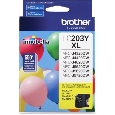 LC203Y Ink Cartridge - Brother Genuine OEM (Yellow)