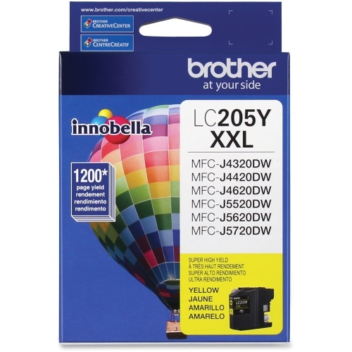 LC205Y Ink Cartridge - Brother Genuine OEM (Yellow)