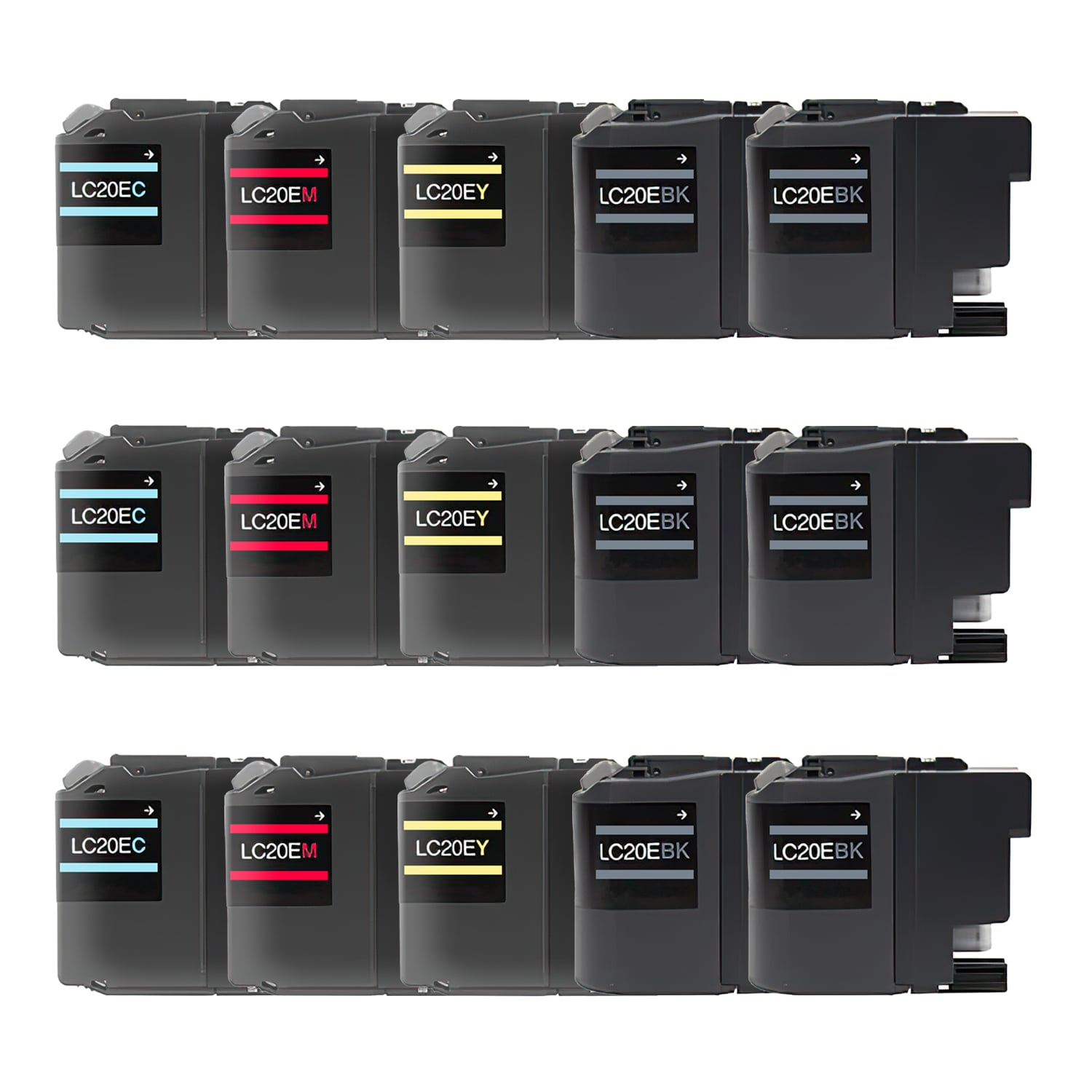 Compatible Brother LC20E Inkjet Extra High Capacity Pack - 15 Cartridges