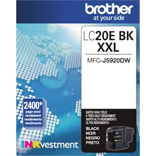 LC20EBK Ink Cartridge - Brother Genuine OEM (Black)