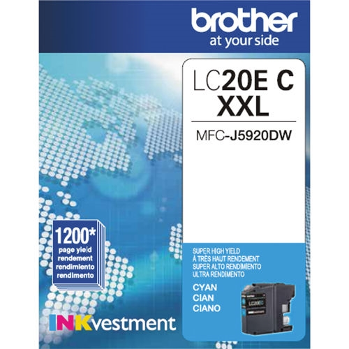 LC20EC Ink Cartridge - Brother Genuine OEM (Cyan)