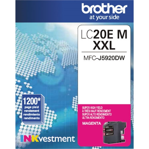LC20EM Ink Cartridge - Brother Genuine OEM (Magenta)