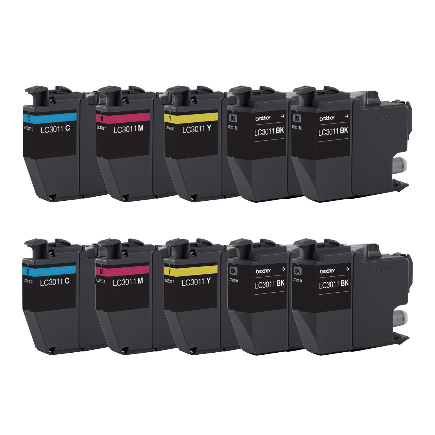 Compatible Brother LC3011 Inkjet Pack - 10 Cartridges