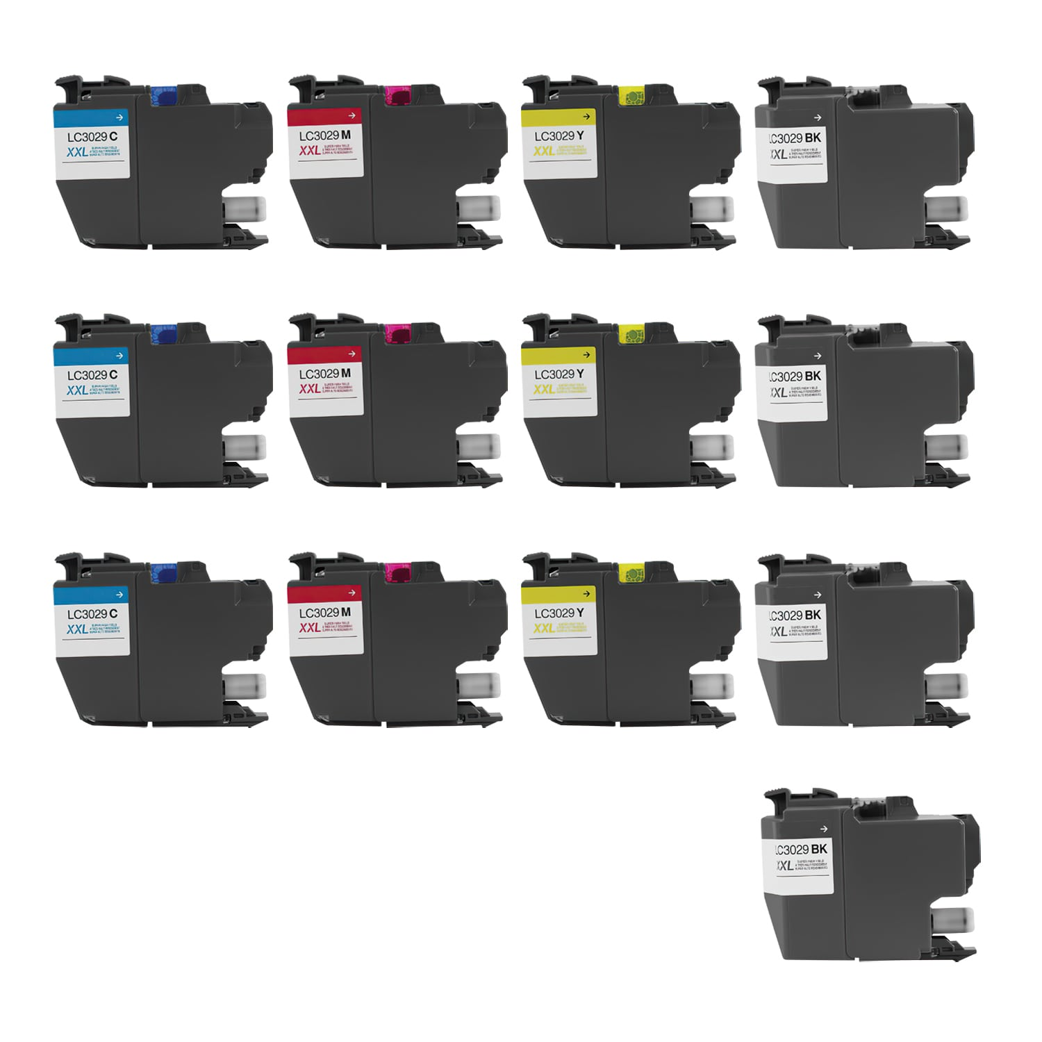 Compatible Brother LC3029 Inkjet Ultra High Capacity Pack - 13 Cartridges