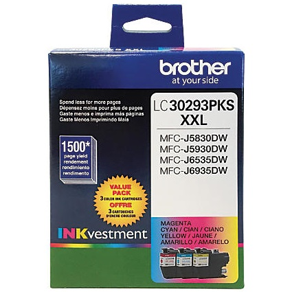 LC30293PK Ink Cartridge - Brother Genuine OEM (Bundle Pack)