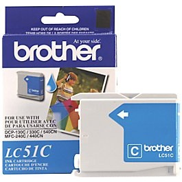 LC51C Ink Cartridge - Brother Genuine OEM (Cyan)