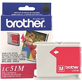 LC51M Ink Cartridge - Brother Genuine OEM (Magenta)