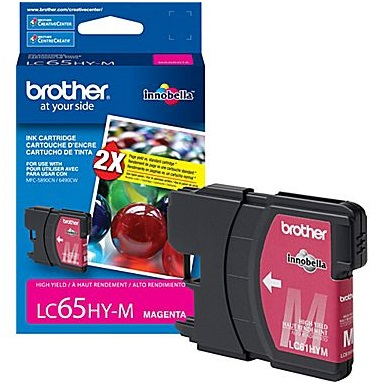 LC65M Ink Cartridge - Brother Genuine OEM (Magenta)