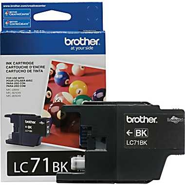 LC71BK Ink Cartridge - Brother Genuine OEM (Black)