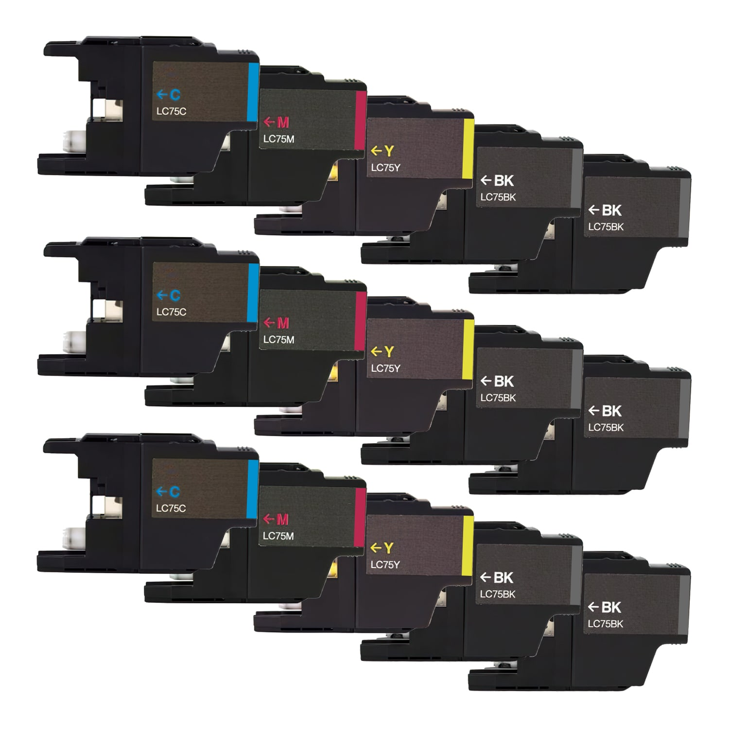 Compatible Brother LC75 Inkjet High Capacity Pack - 15 Cartridges