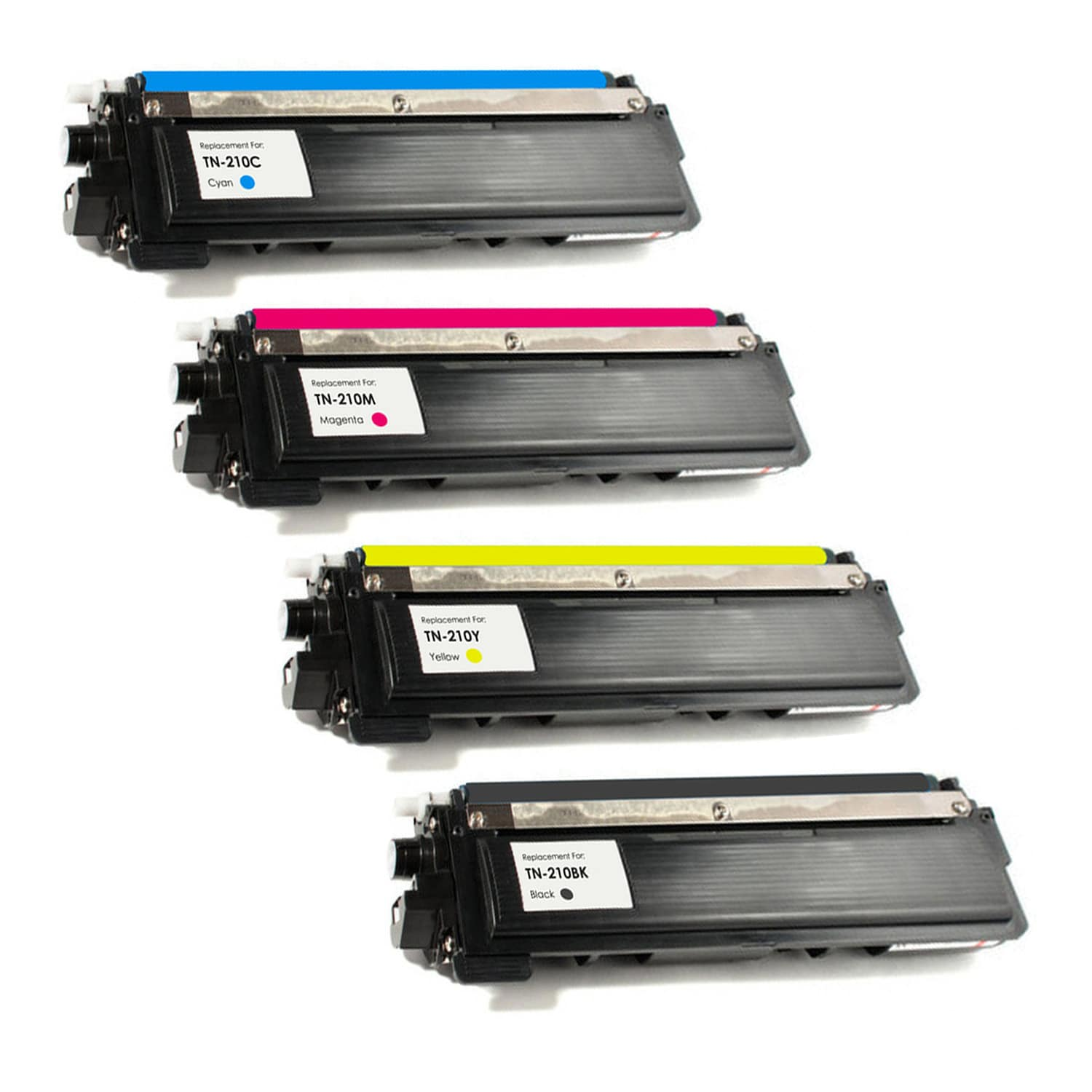 Compatible Brother TN210 Toner Pack - 4 Cartridges