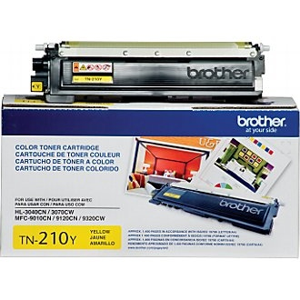 TN210Y Toner Cartridge - Brother Genuine OEM (Yellow)