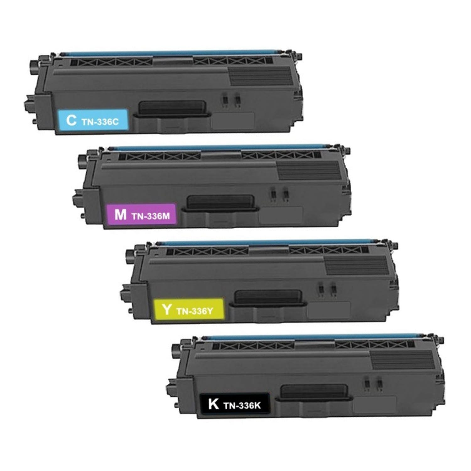 Compatible Brother TN336 Toner High Capacity Pack - 4 Cartridges