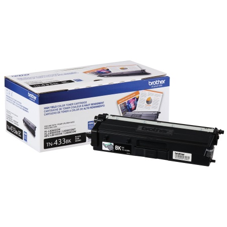 TN433BK Toner Cartridge - Brother Genuine OEM (Black)