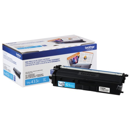 TN433C Toner Cartridge - Brother Genuine OEM (Cyan)