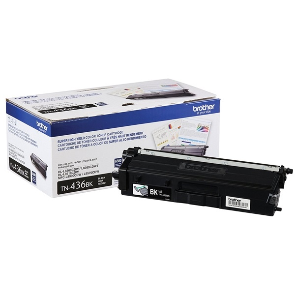 TN436BK Toner Cartridge - Brother Genuine OEM (Black)