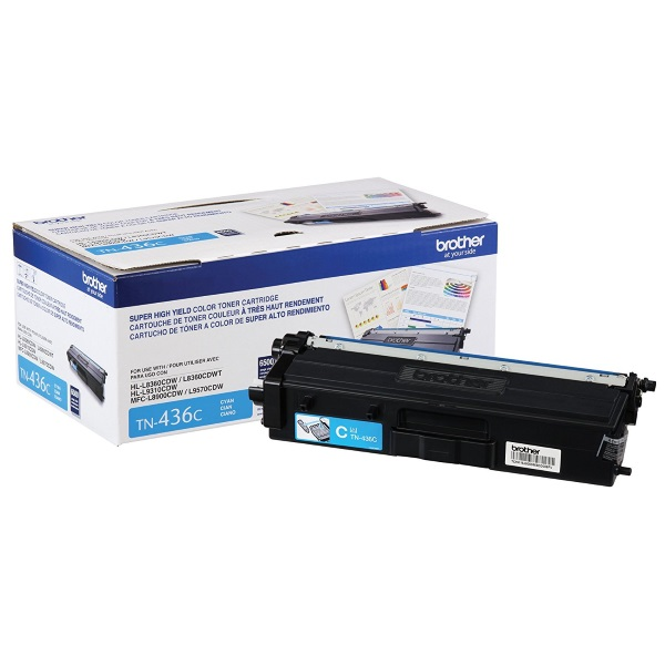 TN436C Toner Cartridge - Brother Genuine OEM (Cyan)