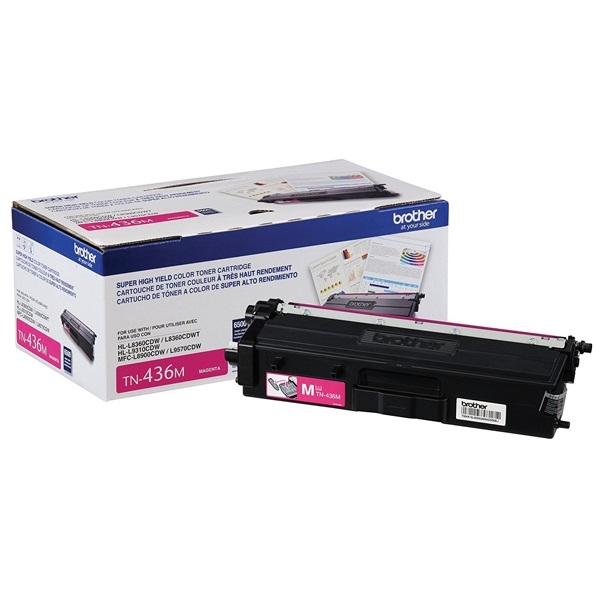 TN436M Toner Cartridge - Brother Genuine OEM (Magenta)