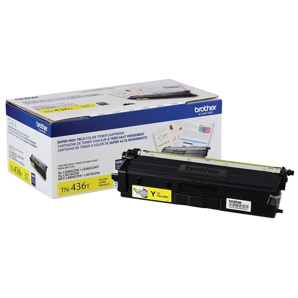 TN436Y Toner Cartridge - Brother Genuine OEM (Yellow)