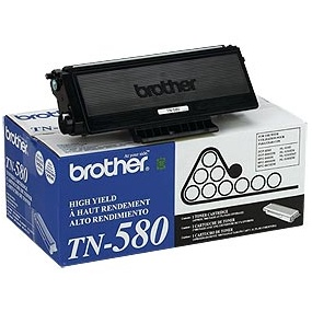 TN580 Toner Cartridge - Brother Genuine OEM (Black)