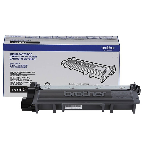 TN660 Toner Cartridge - Brother Genuine OEM (Black)