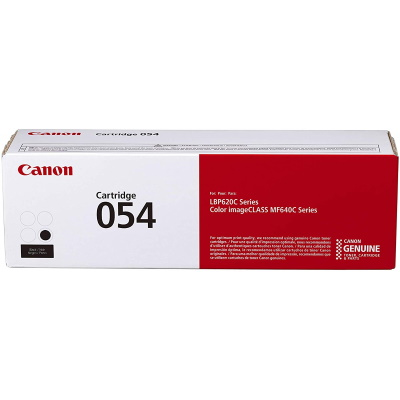 054 Black Toner Cartridge - Canon Genuine OEM (Black)