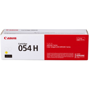 054H Yellow Toner Cartridge - Canon Genuine OEM (Yellow)