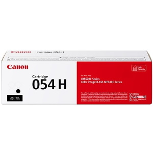 054H Black Toner Cartridge - Canon Genuine OEM (Black)