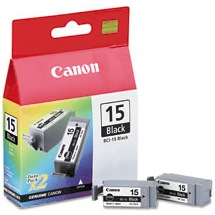 BCI-15BK Ink Cartridge - Canon Genuine OEM (Black)