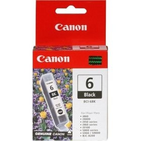 BCI-6BK Ink Cartridge - Canon Genuine OEM (Black)