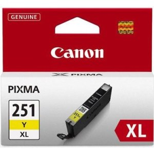 CLI-251Y XL Ink Cartridge - Canon Genuine OEM (Yellow)